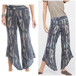 Free People Dancing Days Pull On Print Pants 3578